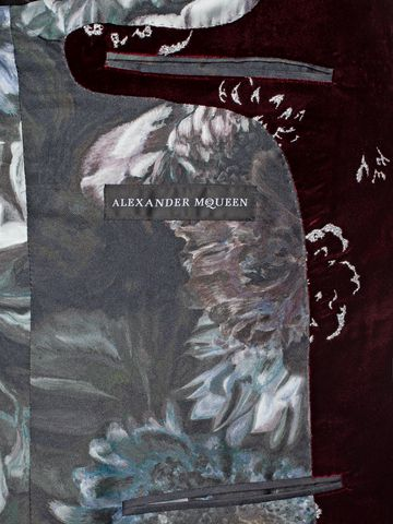ALEXANDER MCQUEEN Floral Velvet Jacket Tailored Jacket U l