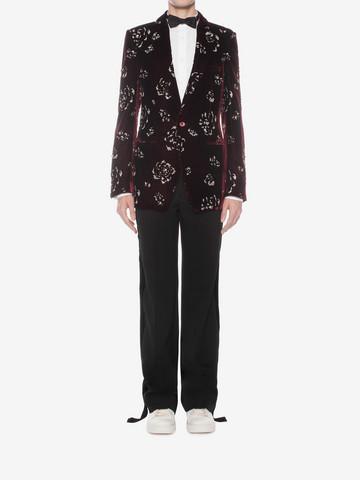 ALEXANDER MCQUEEN Floral Velvet Jacket Tailored Jacket U r