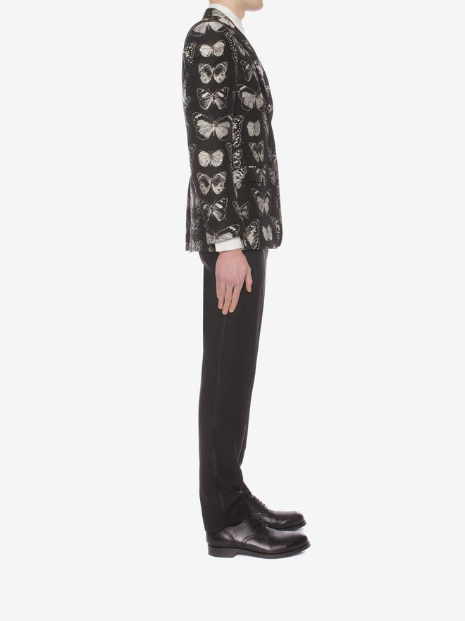 ALEXANDER MCQUEEN Moth Jacquard Jacket Tailored Jacket U d