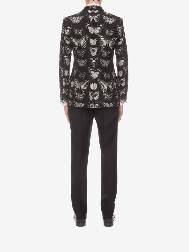 ALEXANDER MCQUEEN Moth Jacquard Jacket Tailored Jacket U e