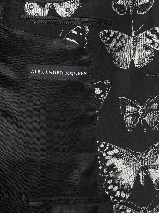 ALEXANDER MCQUEEN Moth Jacquard Jacket Tailored Jacket U l