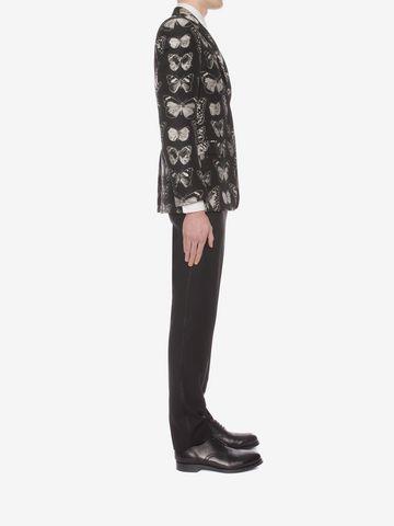 ALEXANDER MCQUEEN Moth Jacquard Jacket Tailored Jacket U d