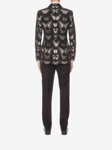 ALEXANDER MCQUEEN Moth Jacquard Jacket Tailored Jacket U e