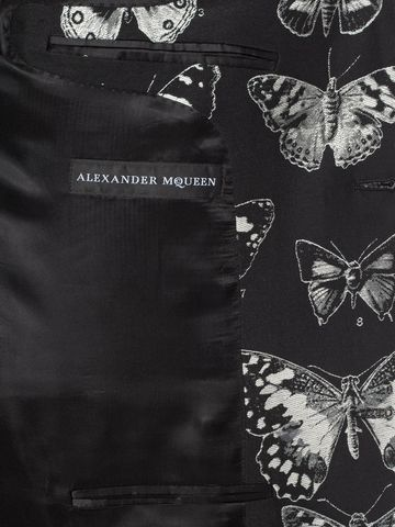 ALEXANDER MCQUEEN Moth Jacquard Jacket Tailored Jacket U l