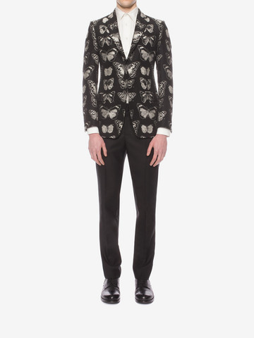 ALEXANDER MCQUEEN Moth Jacquard Jacket Tailored Jacket U r