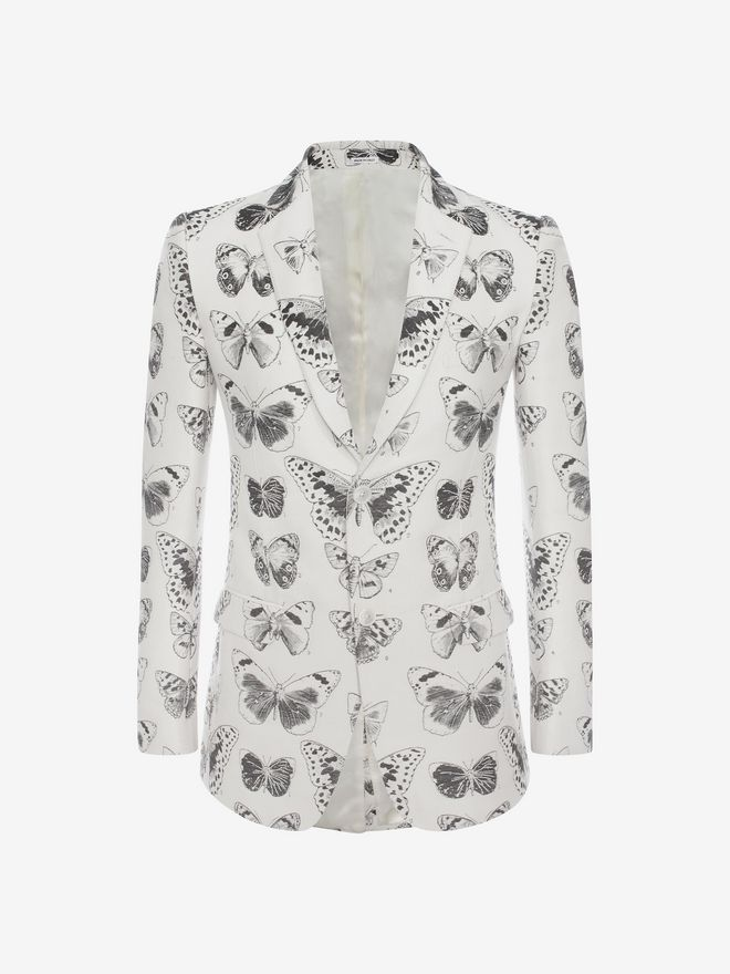 ALEXANDER MCQUEEN Moth Jacquard Jacket Tailored Jacket Man f