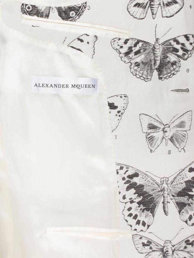 ALEXANDER MCQUEEN Moth Jacquard Jacket Tailored Jacket Man l