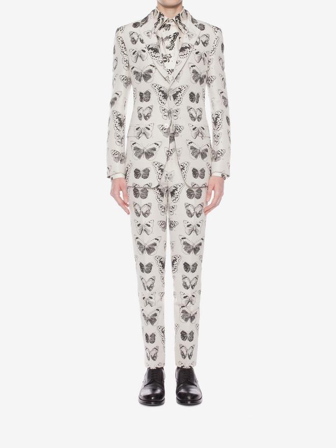 ALEXANDER MCQUEEN Moth Jacquard Jacket Tailored Jacket Man r