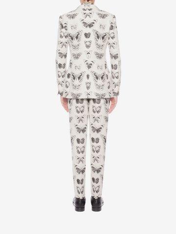 ALEXANDER MCQUEEN Moth Jacquard Jacket Tailored Jacket Man e
