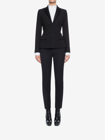 ALEXANDER MCQUEEN Tuxedo Jacket Tailored Jacket D r