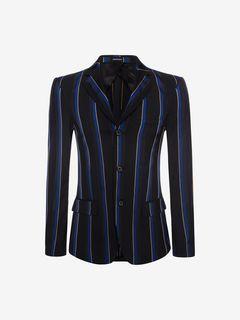 ALEXANDER MCQUEEN Tailored Jacket U Ribbon Stripe 27.5in Jacket f