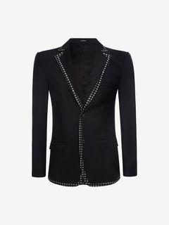 ALEXANDER MCQUEEN Tailored Jacket U Contrasting Edging Jacket f