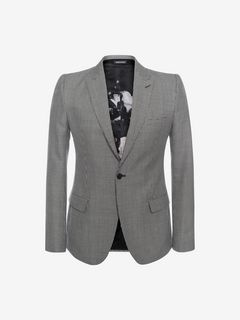 ALEXANDER MCQUEEN Tailored Jacket U Dogtooth AMQ Shoulder Jacket f