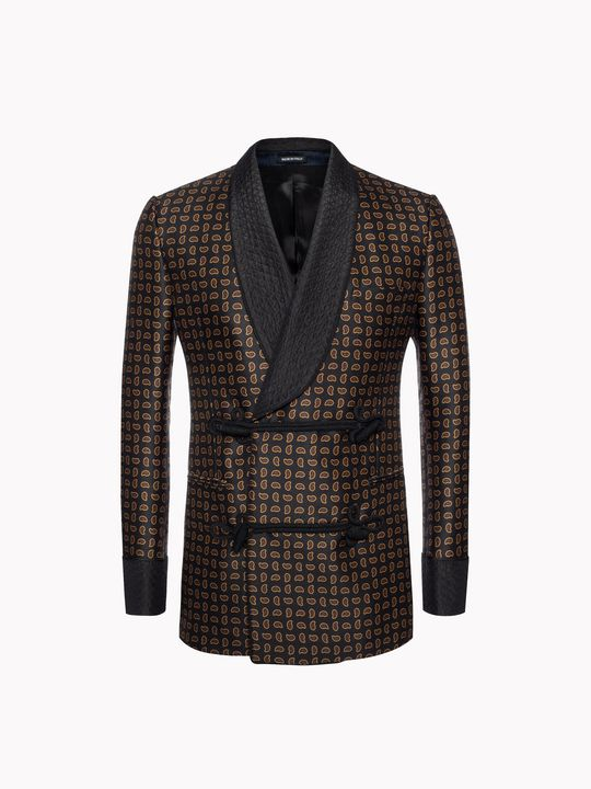 ALEXANDER MCQUEEN Mini Paisley Smoking Jacket Tailored Jacket U f