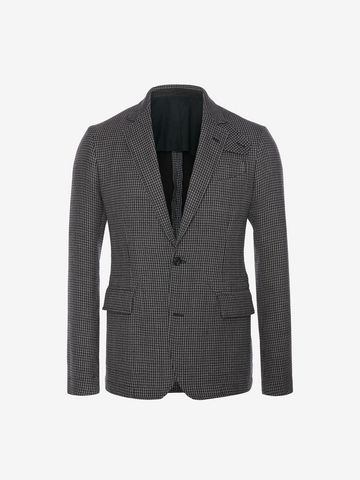 ALEXANDER MCQUEEN Dogtooth Deconstructed Jacket Tailored Jacket U f