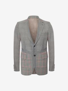 ALEXANDER MCQUEEN Tailored Jacket Man Prince of Wales Jacket f