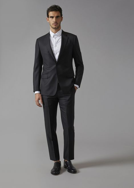 wool and silk soft line suit man giorgio armani