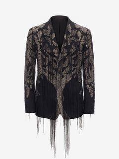 "ALEXANDER MCQUEEN Tailored Jacket Man ""Tree of Life"" Embroidered Jacket f"
