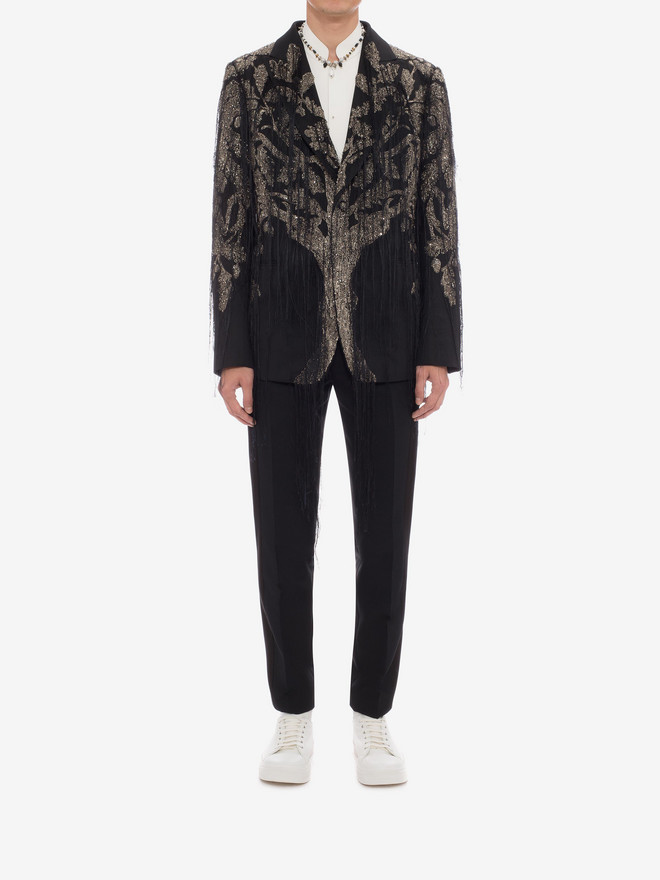 """ALEXANDER MCQUEEN """"Tree of Life"""" Embroidered Jacket Tailored Jacket Man r"""