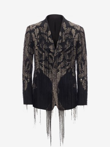 """ALEXANDER MCQUEEN """"Tree of Life"""" Embroidered Jacket Tailored Jacket Man f"""