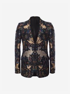 ALEXANDER MCQUEEN Tailored Jacket Man Animals in the Trees Jacket f