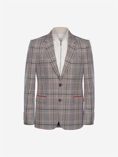 ALEXANDER MCQUEEN Tailored Jacket Man Satin Bib Jacket f