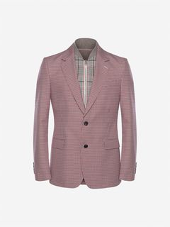 ALEXANDER MCQUEEN Tailored Jacket Man Dogtooth Bib Jacket f