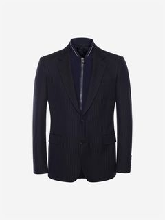 ALEXANDER MCQUEEN Tailored Jacket Man Pinstripe Bib Jacket f
