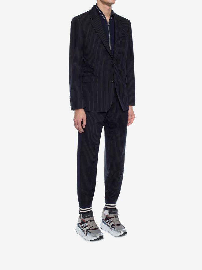 ALEXANDER MCQUEEN Pinstripe Bib Jacket Tailored Jacket Man d