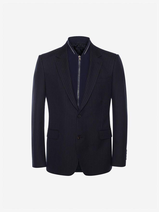 ALEXANDER MCQUEEN Pinstripe Bib Jacket Tailored Jacket Man f