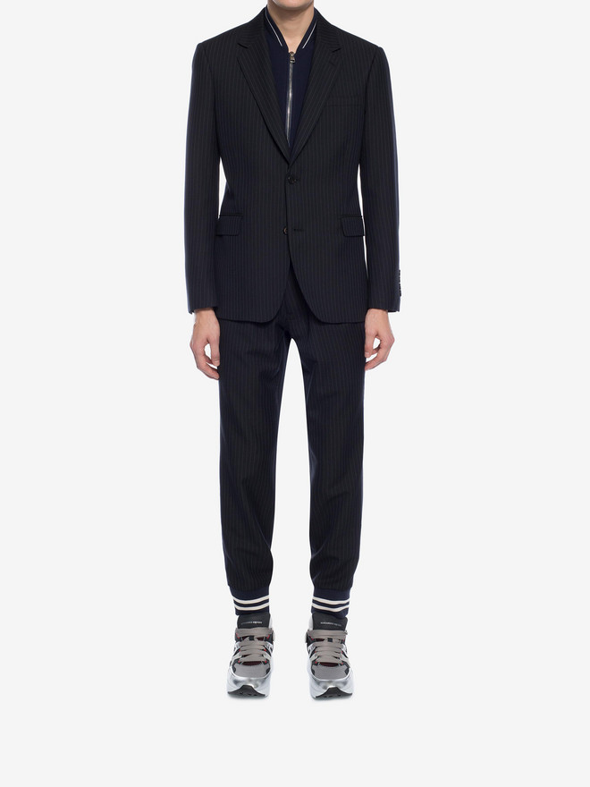 ALEXANDER MCQUEEN Pinstripe Bib Jacket Tailored Jacket Man r