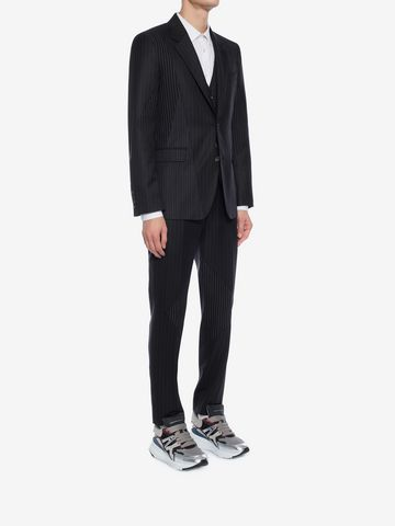 ALEXANDER MCQUEEN Patchwork Pinstripe Jacket Tailored Jacket Man d