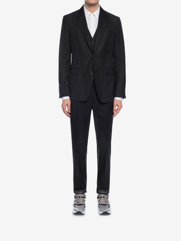 ALEXANDER MCQUEEN Patchwork Pinstripe Jacket Tailored Jacket Man r