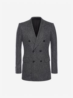 ALEXANDER MCQUEEN Tailored Jacket Man Double-Breasted Cashmere Tweed Jacket f