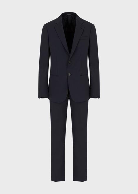 Slim Fit Soho Line Half Canvas Suit for Men