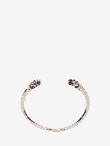 ALEXANDER MCQUEEN Bracelet jonc Twin Skull Bracelet U a