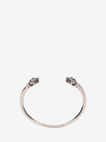 ALEXANDER MCQUEEN Bracelet jonc Twin Skull Bracelet U e