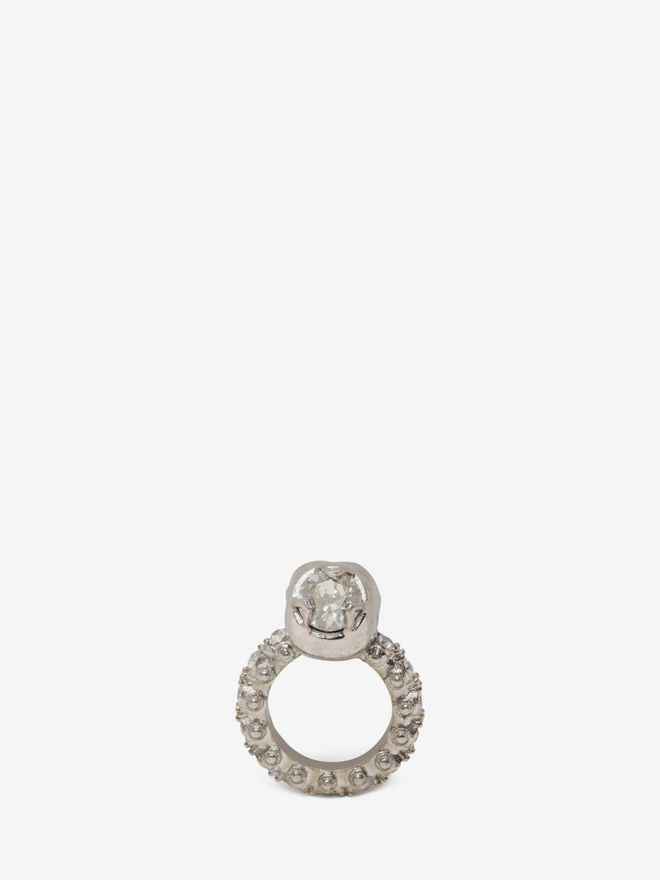 ALEXANDER MCQUEEN Jewelled Skull Ring Ring D d