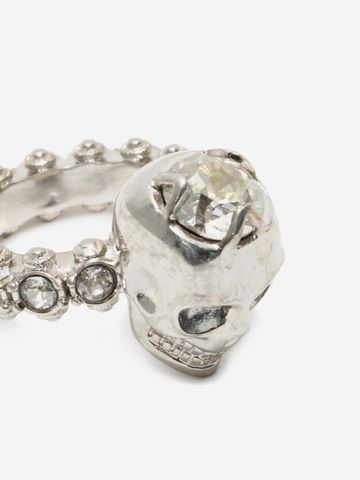 ALEXANDER MCQUEEN Jewelled Skull Ring Ring D e