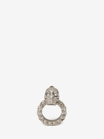 ALEXANDER MCQUEEN Jewelled Skull Ring Ring D f