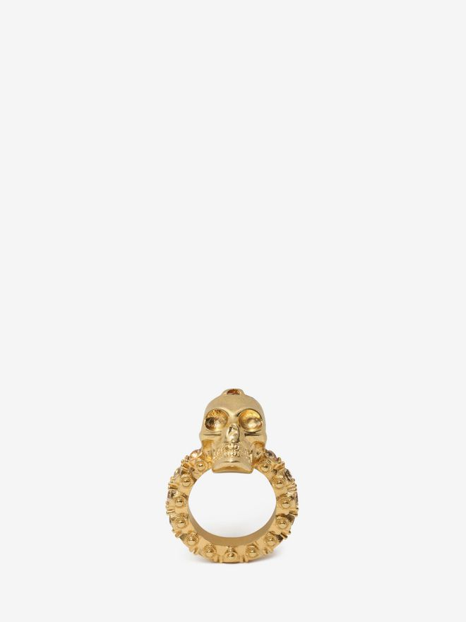 ALEXANDER MCQUEEN Jewelled Skull Ring Ring Woman f
