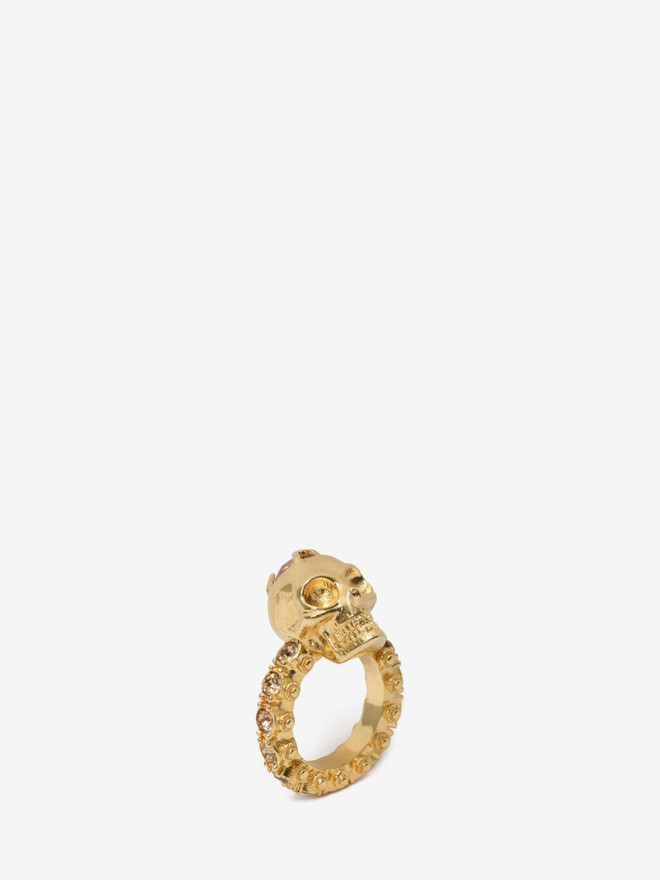 ALEXANDER MCQUEEN Jewelled Skull Ring Ring Woman r