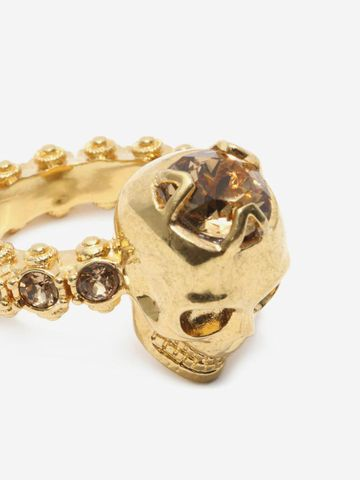 ALEXANDER MCQUEEN Jewelled Skull Ring Ring Woman e