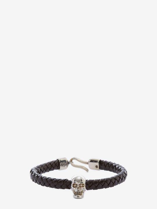 ALEXANDER MCQUEEN Bracelet Man Skull Leather Bracelet f