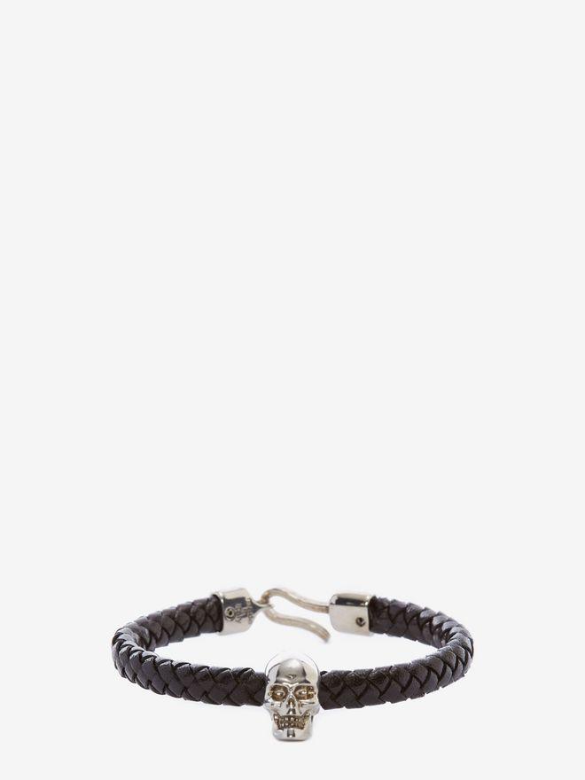 ALEXANDER MCQUEEN Skull Leather Bracelet Bracelet U f