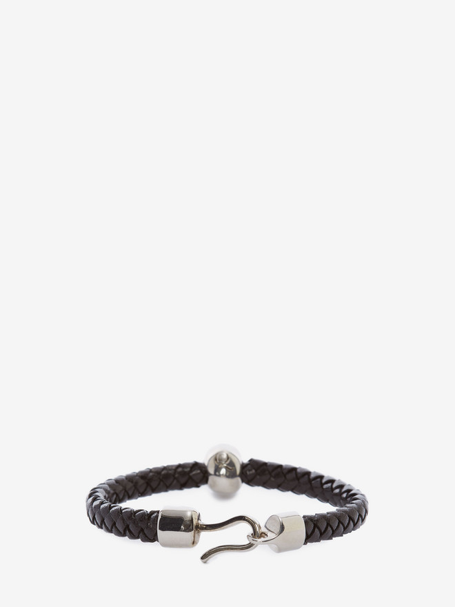 ALEXANDER MCQUEEN Skull Leather Bracelet Bracelet Man r