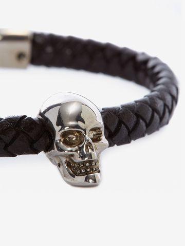 ALEXANDER MCQUEEN Skull Leather Bracelet Bracelet U d