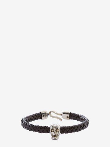 ALEXANDER MCQUEEN Skull Leather Bracelet Bracelet Man f