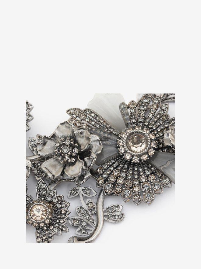 ALEXANDER MCQUEEN Jewelled Floral Necklace Necklace D e