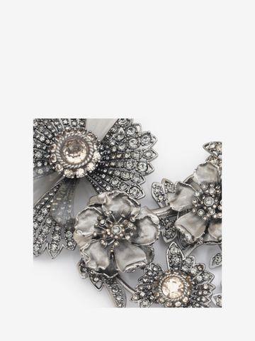 ALEXANDER MCQUEEN Jewelled Floral Necklace Necklace D d